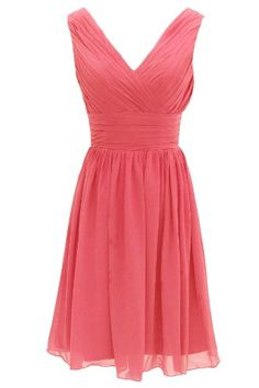 Dressystar Short Bridesmaid Dress Chiffon Party Evening Dress Coral Size 4 Dressystar http://www.amazon.com/dp/B00GASFRH2/ref=cm_sw_r_pi_dp_p2.aub0PM3EDC