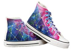 Items similar to Custom Converse Galaxy Converse Sneakers Hand-Painted On Converse Shoes Canvas shoes on Etsy