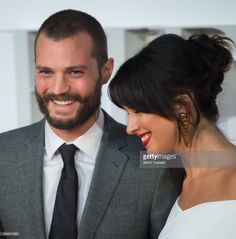Jamie Dornan and Amelia Warner attend the 'Fifty Shades Darker' - UK Premiere on February 9, 2017 in London, United Kingdom.