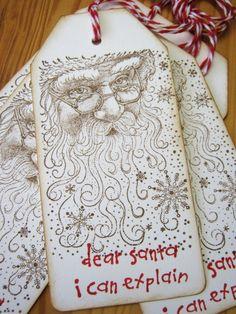 Christmas Gift Tags, Santa Gift Tags