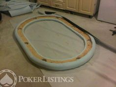 Poker Table Diy, Poker Table Plans, Custom Poker Tables, Patio Table, Pool Table, Diy Table, Backyard Bar, Build Your Own House, Table Games