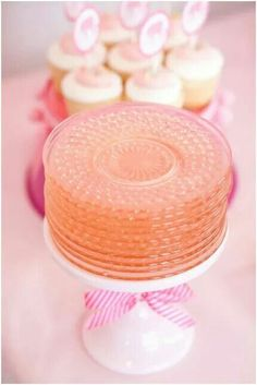 serve up pretty plates on a cake stand