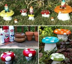 DIY Clay Pot Flower People Upcycle Terracotta Pots and Saucers into these colorful Toadstools that will add colour and personality to your home. Terracotta Pots and Saucers into these colorful Toadstools that will add colour and personality to your home. Clay Pot Projects, Clay Pot Crafts, Diy Clay, Flower Pot People, Clay Pot People, Clay Flower Pots, Flower Pot Crafts, Painted Clay Pots, Painted Flower Pots