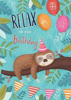 happy birthday wishes Advocate-Art Happy Birthday Wishes Cards, Birthday Wishes And Images, Singing Happy Birthday, Bday Cards, Birthday Pictures, Birthday Greeting Cards, Happy Birthday Quotes, Sloth Happy Birthday, Happy Birthday Illustration