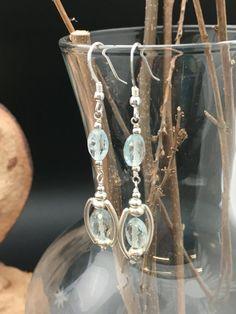 Aquamarine earrings March birthstone by AngelWearDesigns2013