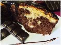 Bolo Chocolate e pão-de-Ló com cobertura Chocolate