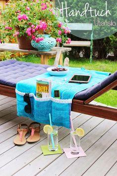 s'Bastelkistle: Handtuch Utensilo für deine Liege