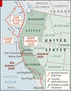 West Coast Earthquake Fault Lines Bing