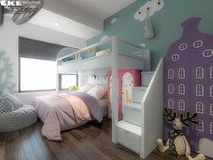 Thiết kế căn hộ chung cư Safira Khang Điền 85m2 - EKE INTERIOR Bunk Beds, Loft, Interior Design, Projects, Furniture, Home Decor, Sapphire, Interior Design Studio, Log Projects