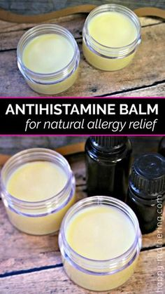 Are you looking for natural allergy relief remedies that work? Learn how to make our natural DIY antihistamine balm featuring essential oils quick allergy relief. allergies How to Make an Antihistamine Balm for Natural Allergy Relief Natural Health Remedies, Herbal Remedies, Natural Remedies For Allergies, Holistic Remedies, Homeopathic Remedies For Allergies, Cold Remedies, Natural Medicine, Herbal Medicine, Natural Allergy Relief