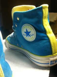 Converse All Star Chuck Taylor Hi Tops - Blue Lemon 1T151 Fuzzy Fuzz -  Womens 4b28df08348