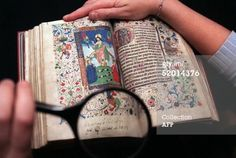 """Anne Boleyn's Book of Hours made in 1450 and inscribed with the aphorism """"Le temps viendra,""""(the time will come) and Anne's signature. The illustration is quite beautiful and the sentiment noteworthy given her tragic and untimely death! The book is now in her family home at Hever Castle, open to visitors."""
