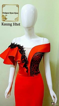 African Lace Dresses, Latest African Fashion Dresses, Sexy Evening Dress, Evening Dresses, Myanmar Dress Design, Lace Gown Styles, Classy Dress, Dance Dresses, Traditional Dresses