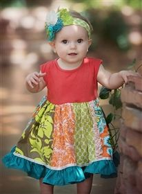 Baby by Persnickety Clothing - Sweet Pea Penelope Dress in Multi