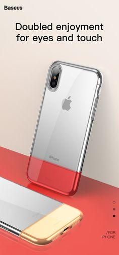 Baseus Protective Case For iPhone XS Hybrid Color Transparent Fingerprint Resistant Back Cover Protective Cases, Phone Accessories, Gadgets, Iphone Cases, Apple, Cover, Blankets, I Phone Cases, Gadget
