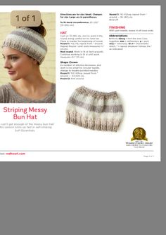 Knitting Machine Patterns, Knitting Paterns, Baby Hats Knitting, Knit Hats, Hat Patterns, Easy Knitting, Loom Knitting, Crochet Patterns, Knit Headband Pattern