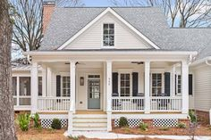 Plan Country Charmer With Flexible Upper Floor Architectectural Designs Plan Three bedrooms, three full baths. Second floor media room OR fourth bedroom. Future House, House, Cottage Homes, House Flooring, House Exterior, Building A House, Farmhouse House, Building A Patio, Cottage House Plans