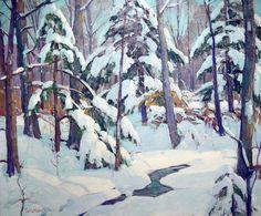 Carl W. Peters, American (USA 1897-1980) Winter Brook