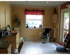home salon design. Hair Salon in Your Home  In Law Suite Cottage detached for sale My Shampoo corner my at home Pinterest