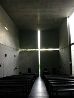Tadao Ando.  Might actually get me to a church again.  Might ...
