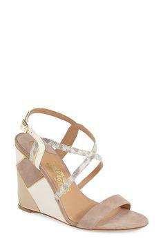 Salvatore Ferragamo 'Gris' Wedge Sandal (Women)