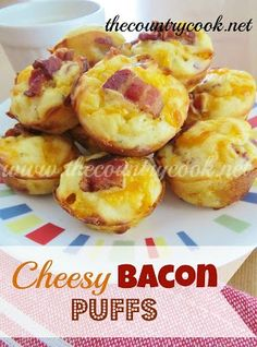 Cheesy Bacon Puffs