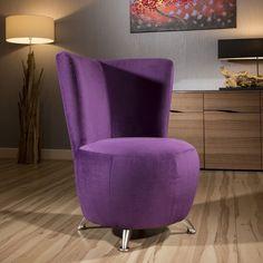 Amazing Modern Designer Purple Fabric Armchair Occasional Tub Chair