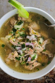 Slow Cooker Spicy Posole Verde Recipe on Yummly