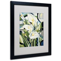 Trademark Fine Art Cubist Lilies 2002 Artwork by Catherine Abel, Black Frame, 16 by 20-Inch ** Startling review available here  (This is an amazon affiliate link. I may earn commission from it)