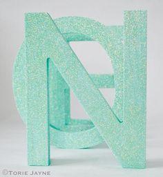Glittered Noel tutorial by Torie Jayne