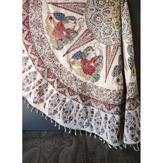 Vintage Round Tablecloth  Made in Iran  by JustSmashingDarling, $78.00