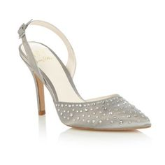 No. 1 Jenny Packham Silver 'Leigha' embellished court shoes- at Debenhams.com Bought these today, comfortable and would be worn again.  What do you think??!