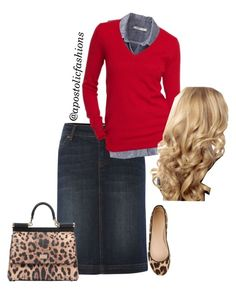 """""""Apostolic Fashions #711"""" by apostolicfashions ❤ liked on Polyvore featuring Linea Weekend, Old Navy, J.Crew and Dolce&Gabbana"""