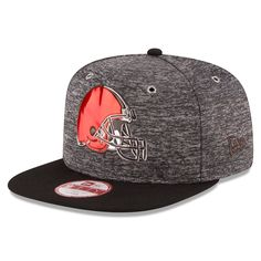 689136742 Men s Cleveland Browns New Era Heather Gray Shadow Tech Original Fit 9FIFTY  Snapback Adjustable Hat