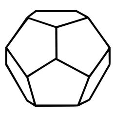 Dodecahedron Sacred Geometry Die-Cut Decal Car Window Wall Bumper Phone Laptop