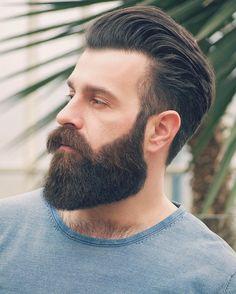 Beard Styles For Men, Hair And Beard Styles, Hair Styles, Modern Haircuts, Haircuts For Men, Barber Shop Haircuts, Badass Beard, Hipster Man, Beard Grooming