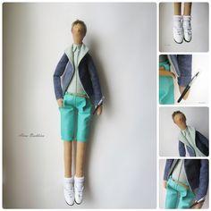 Таааадаааам! Вот и парень во всей красе:) одежда и стиль по фото. #тильда#портретнаякукла#хобби#хендмейд#текстильнаякукла#стиль#мальчик#рукоделие#творчество