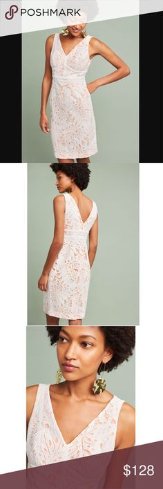 "Anthropologie Gardenia lace dress NWT. By Maeve. Size 14. Armpit across almost 20"". Waist across 17"". Bottom across 22"". 40"" long from shoulder. Anthropologie Dresses Midi"