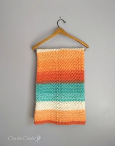 Crochet this beautiful Every Day Baby Blanket using Lion Brand Cupcake yarn. The perfect blanket to make for a baby shower!
