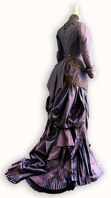 rear view of costume worn in 'The Portrait of a Lady'