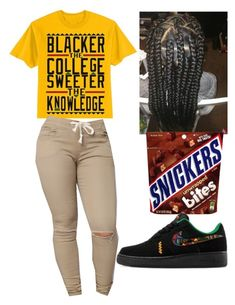 """Black Girls"" by bad-sj ❤ liked on Polyvore featuring NIKE"