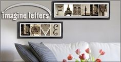Create Name Art with Alphabet Photo Letters 7 Letters only $25   Free Bonus Word,