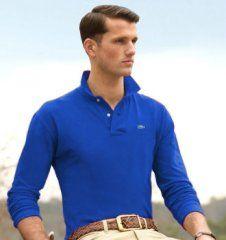 323a83e8a8c3 Nice long sleeved blue polo shirt