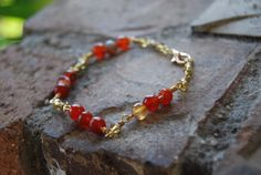 California Wildfire Bracelet by TheseJoyfulAches on Etsy