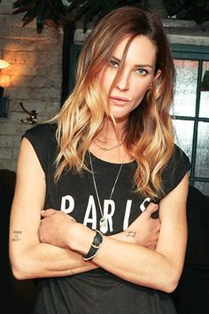 """Erin Wasson. The cheekbones, done-undone blonde hair, """"Whatcha gonna do about it?"""" pose and all."""