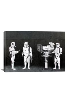 Banksy Stormtroopers Filming Oscars 18inX12in Canvas Print