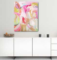 Modern Art Print  Abstract Print 8x10 and up pink rose