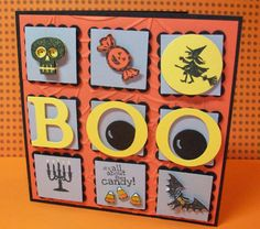 "A 5"" square Halloween Sampler card from Stampin' Up"