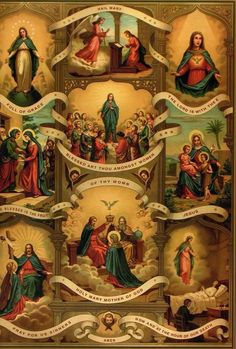 Ave Maria ~ Hail Mary The Lord is with thee Catholic Prayers, Catholic Art, Catholic Saints, Catholic Churches, Roman Catholic, Religious Images, Religious Icons, Religious Art, Blessed Mother Mary