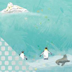 #zoofari #zoo_scrapbook_paper #polar_bear #penguins #seal